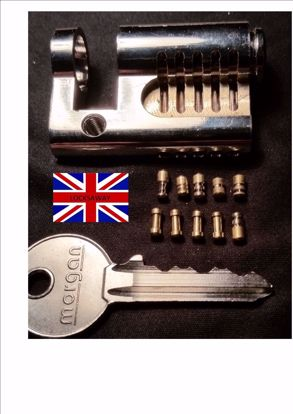 Picture of Cutaway Euro Practice Lock fitted with 10 SECURITY Pins