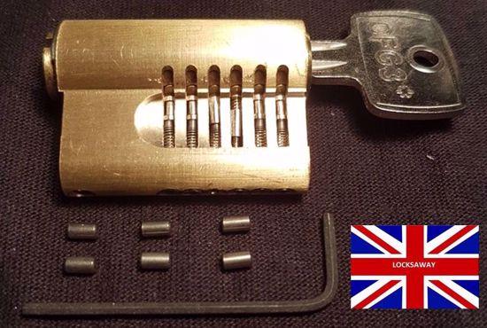 Picture of CFG 3* Pin in Pin Cutaway Lock