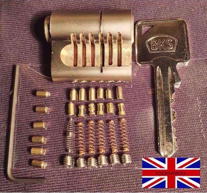 Picture of MILA BKS 6 PIN CUTAWAY EURO CYLINDER LOCK  Fitted with PIN in PIN security